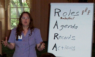Shirley Fine Lee facilitating RARA dicusssion