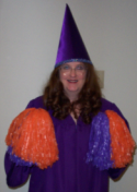 Shirley Fine Lee as the Meeting Wizard giving RARA cheer